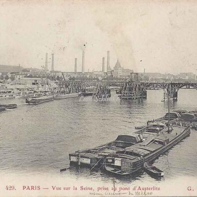 GBRR 429 - Vue sur la Seine, prise au Pont d'Austerlitz
