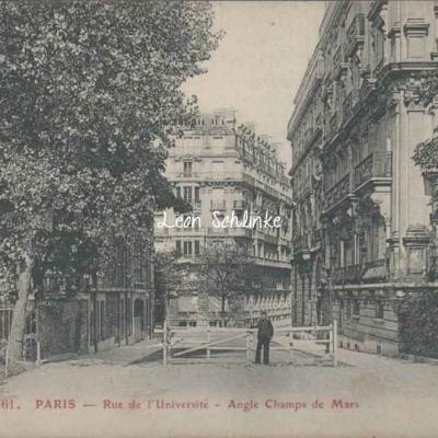 GBRR 461 - Rue de l'Universté - Angle Champs de Mars