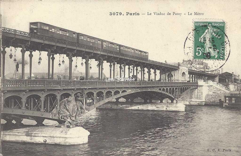 GCA 3079 - Le Viaduc de Passy - Le Métro