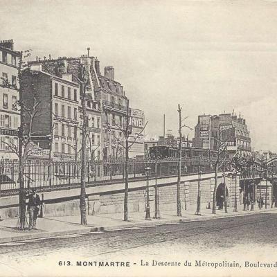 GCA 613 - Montmartre - La descente du Métropolitain Bd Rochechouart
