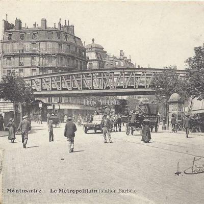 GCA 646 6 Montmartre - Le métropolitain (station Barbès)
