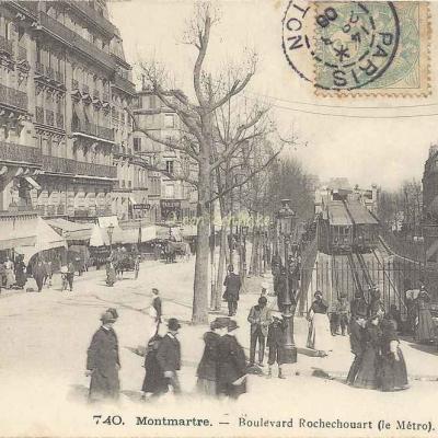 GCA 740 - Montmartre - Bd Rochechouart (le Métro)