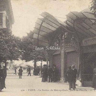 GI 430 - La Station du Métropolitain, place de l'Etoile