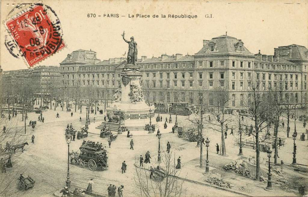 GI 670 - PARIS - La Place de la République