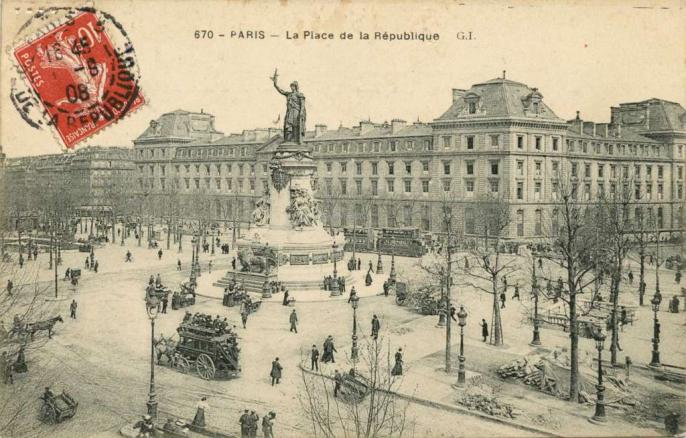 GI 670 - PARIS - La Place de la République