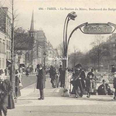 GI 686 - La Station du Métro, Boulevard des Batignolles