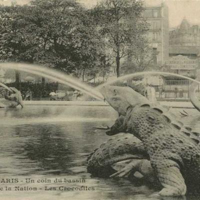 Gondry 10 - Un coin du bassin - Place de la Nation - Les Crocodiles