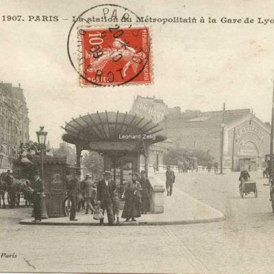 Gondry 1907 - PARIS - La station du Métropolitain à la Gare de Lyon
