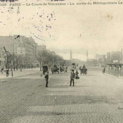 Gondry 2026 - PARIS - Le Cours de Vincennes - La Sortie du Métropolitain Le Nogentais