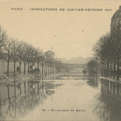 Gondry 28 - PARIS - INONDATIONS JANVIER-FEVRIER 1910 - Boulevard Bercy