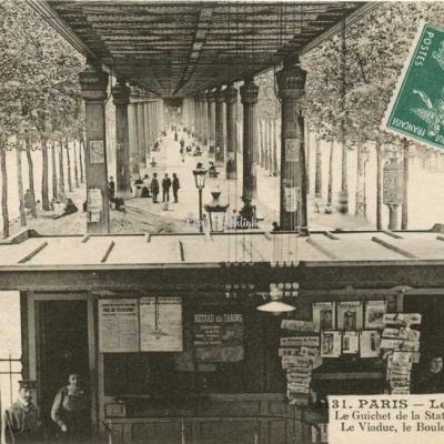 Gondry 3131 - Guichet de la Station, le Viaduc et le Bd de la Gare