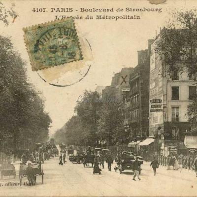 Gondry 4107 - Boulevard de Strasbourg - Entrée du Métro
