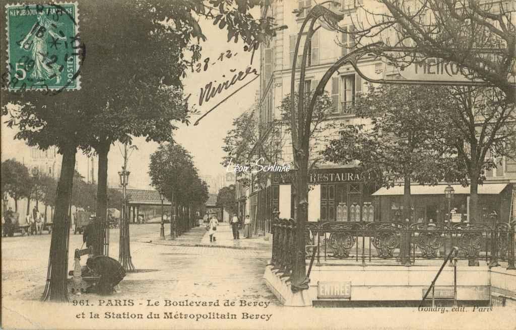 Gondry 961 - Le Boulevard de Bercy et la Station du Métro