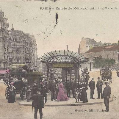 Gondry - Entrée du Métropolitain à la Gare de Lyon