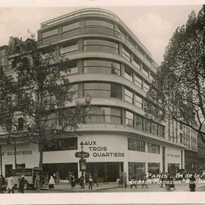 Grands Magasins ''Aux Trois Quartiers'' - PARIS - Bd de la Madeleine