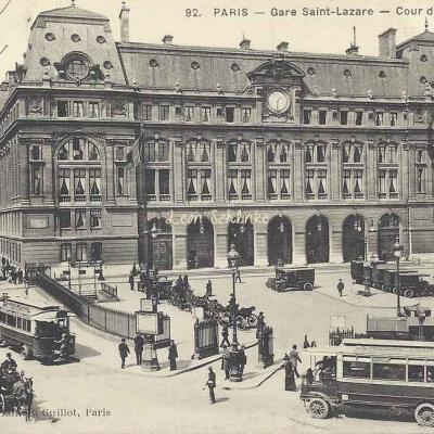 Guillot edition 92 - Gare Saint-Lazare - Cour de Rome