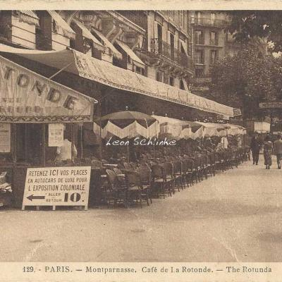 Guy 129 - Montparnasse. Café de la Rotonde