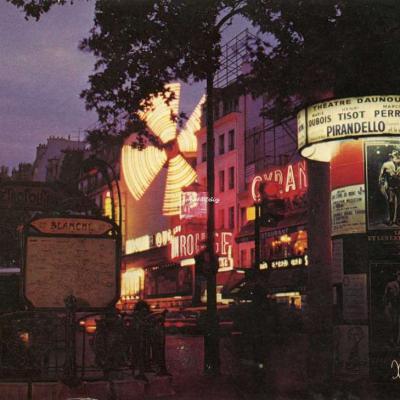 Guy 2·736 - Montmartre la nuit - la place Blanche