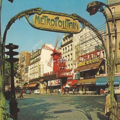 Guy 2001 - Montmartre - Le Moulin Rouge, Place Blanche