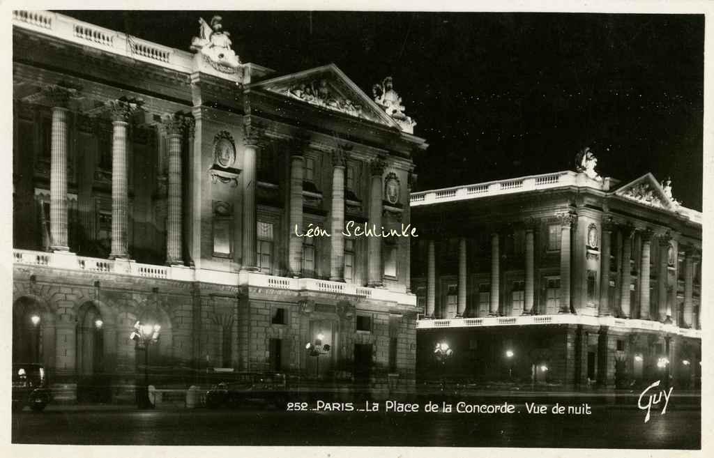 Guy 252 - La Place de la Concorde - Vue de nuit