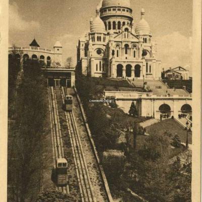 H. 839 - Le Funiculaire et la Basilique du Sacré-Coeur de Montmartre