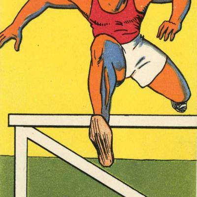 H.L. Roowy - Jeux Olympiques 1924 - COURSE de HAIES