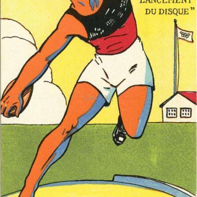 H.L. Roowy - Jeux Olympiques 1924 - LANCEMENT DU DISQUE