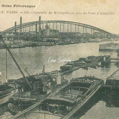 HF 159 - Passerelle du Métropolitain pris du Pont d'Austerlitz