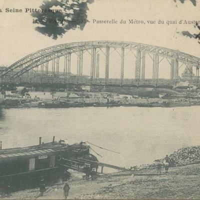 HF 193 - PARIS - Passerelle du Métro, vue du Quai d'Austerlitz