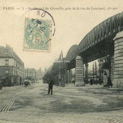 HF 4 - Boulevard de Grenelle, pris de la rue de Lourmel, 15° arr