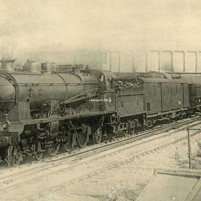 HMP - 49 - Résean d'Orléans - Le Sud-Express à Juvisy (1923) Pacific 3588