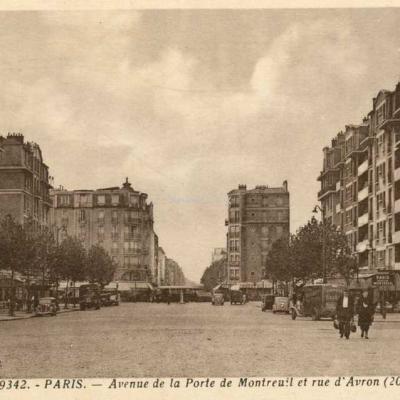 Houdart 9342 - Avenue de la Porte de Montreuil et rue d'Avron