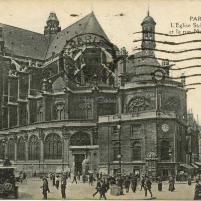 HV - L'Eglise St-Eustache et la rue MOntmartre