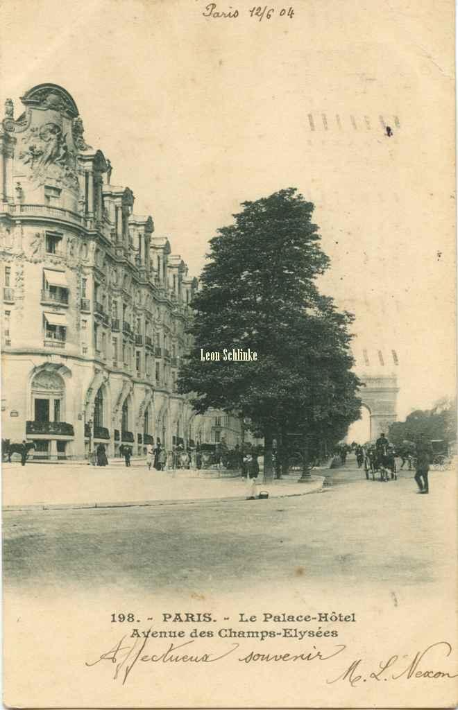 Inconnu 198 - Le Palace-Hôtel Avenue des Champs-Elysées