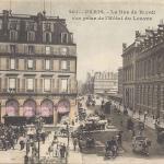 Inconnu - 261 - La Rue de Rivoli vue prise de l'Hôtel du Louvre