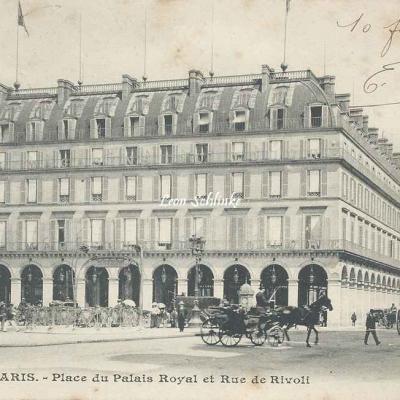 Inconnu - 301 - Place du Palais Royal et Rue de Rivoli