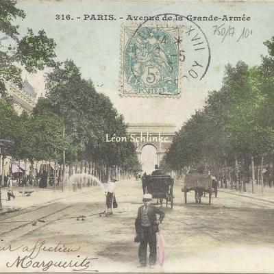 Inconnu 316 - Avenue de la Grande-Armée (vue 2 color)