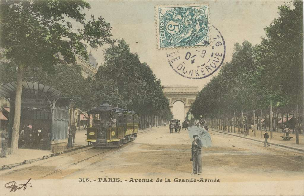 Inconnu 316 - PARIS - Avenue de la Grande-Armée (vue 1 color)