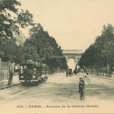 Inconnu 316 - PARIS - Avenue de la Grande-Armée (vue 1 n&b)