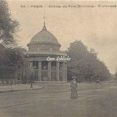 Inconnu 49 - Entrée du Parc Monceau - Bd de Courcelles