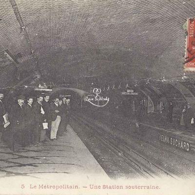 Inconnu 5 - Le Métropolitain - Une Station souterraine