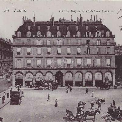Inconnu - 55 - Palais Royal et Hôtel du Louvre