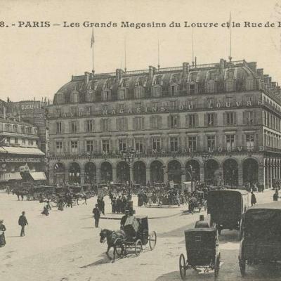 Inconnu 838 - PARIS - Les Grands Magasins du Louvre et le Rue de Rivoli