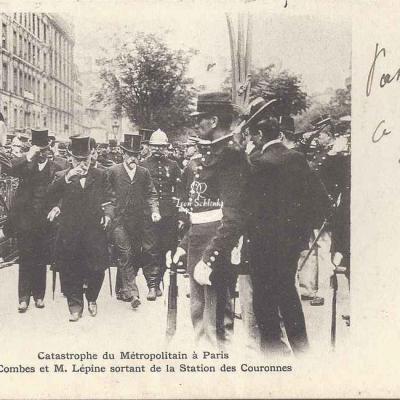 Inconnu - Catastrophe 1903 - Mr Combes et Mr Lépine