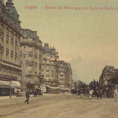 Inconnu - Entrée du Métro gare de Lyon et Boulevard Diderot