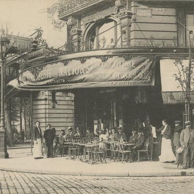 Inconnu - PARIS - Brasserie des Nations et Gare de La Chapelle
