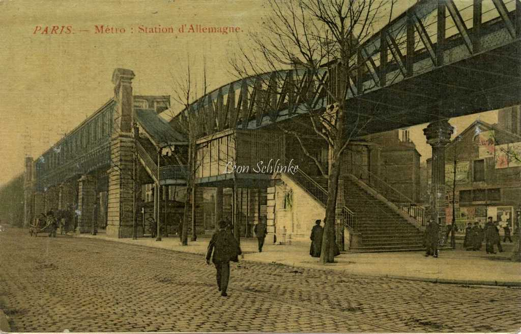 Inconnu - Métro : Station d'Allemagne