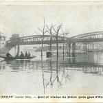 Inconnu - Paris Inondé - Quai et Viaduc de Métro (près Gare d'Austerlitz)
