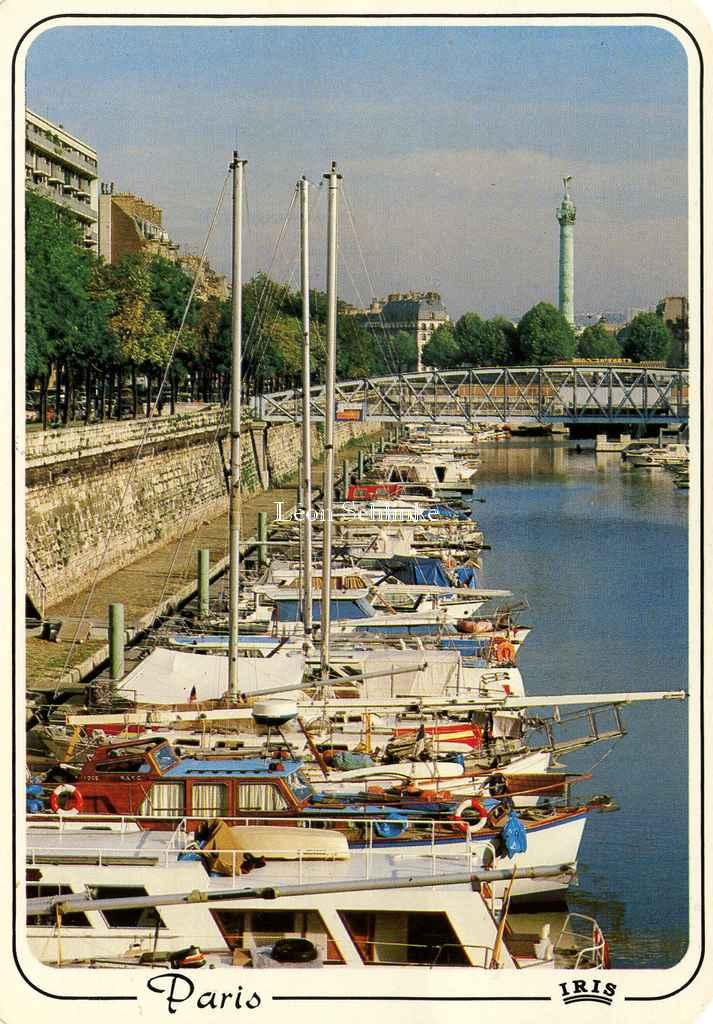IRIS 714 - le port de l'Arsenal et la colonne de la Bastille