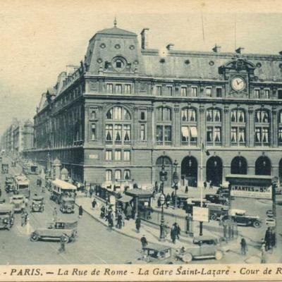 Jan 24 - La Rue et la Cour de Rome - La Gare Saint-Lazare
